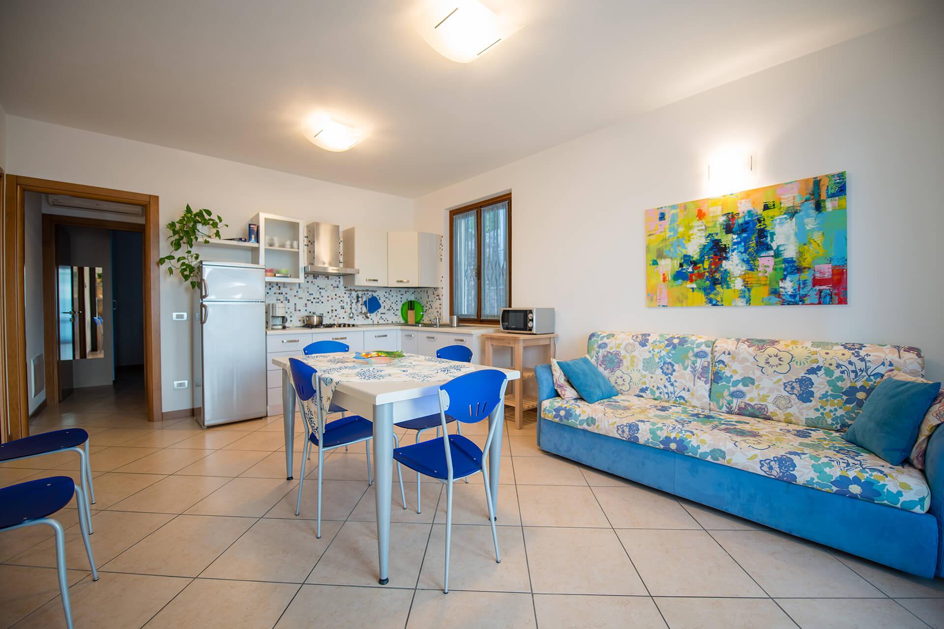 Sala appartamento c blu